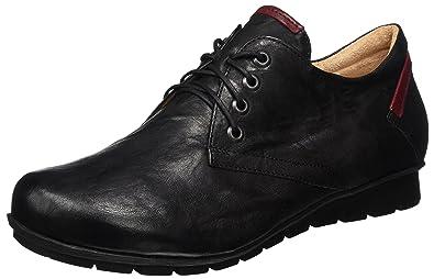 Think Menscha, Desert Boots Femme, Noir (SZ/Kombi 09), 38.5 EU