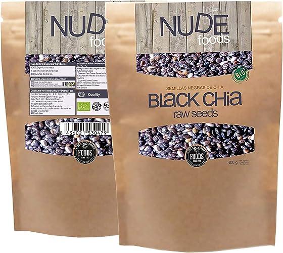 NUDE Chia Negra Premium | Bio Certificada | Fuente de Omega-3 | Fibra | Proteínas | Vitamina E | Libre de Plástico | Libre de Soja | Vegan Friendly | Raw | Gluten Free: Amazon.es: Alimentación y bebidas