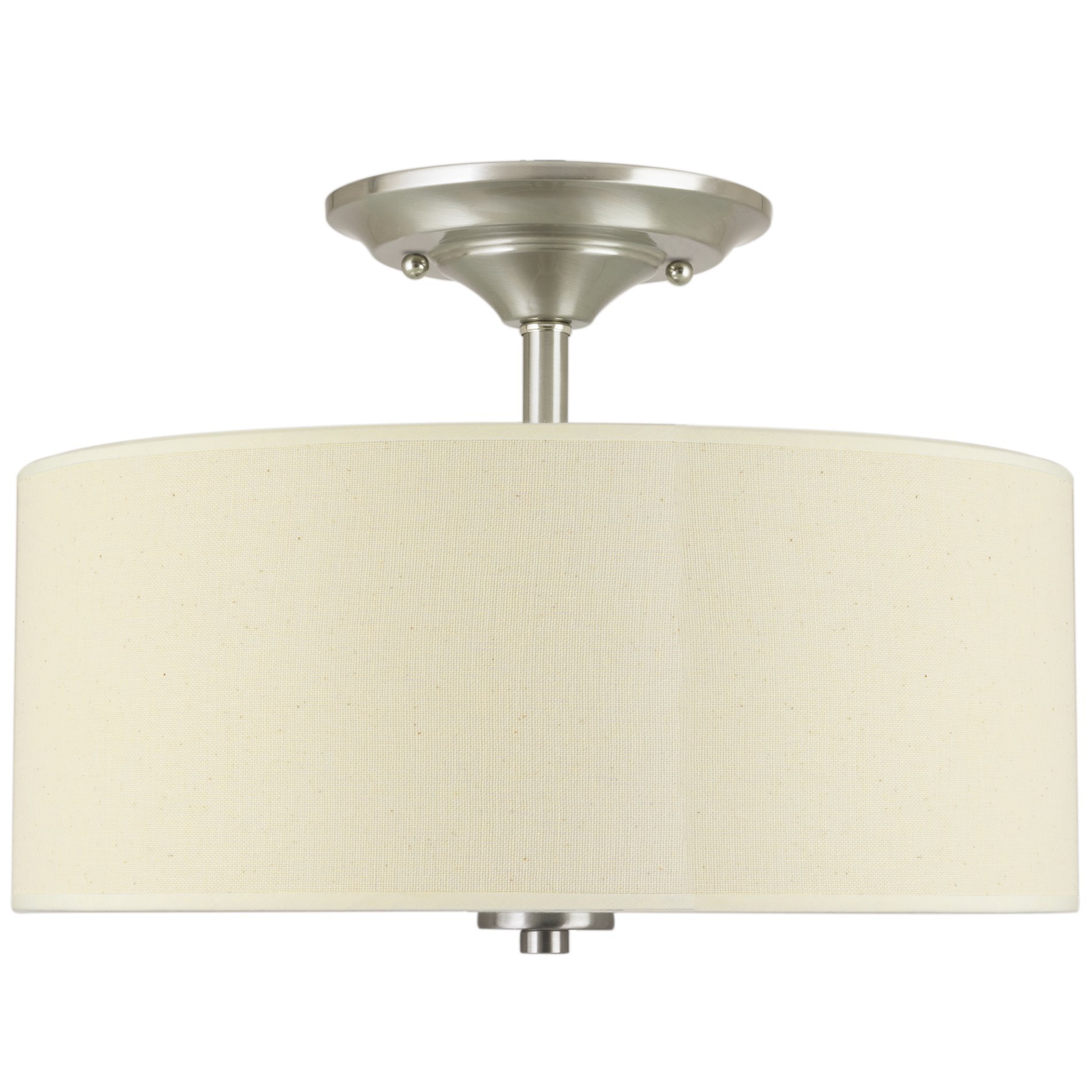 13 2 light semi flush mount ceiling light fixture w off white colorbrushed nickel glass diffuser the addison 2 light semi flush arubaitofo Image collections