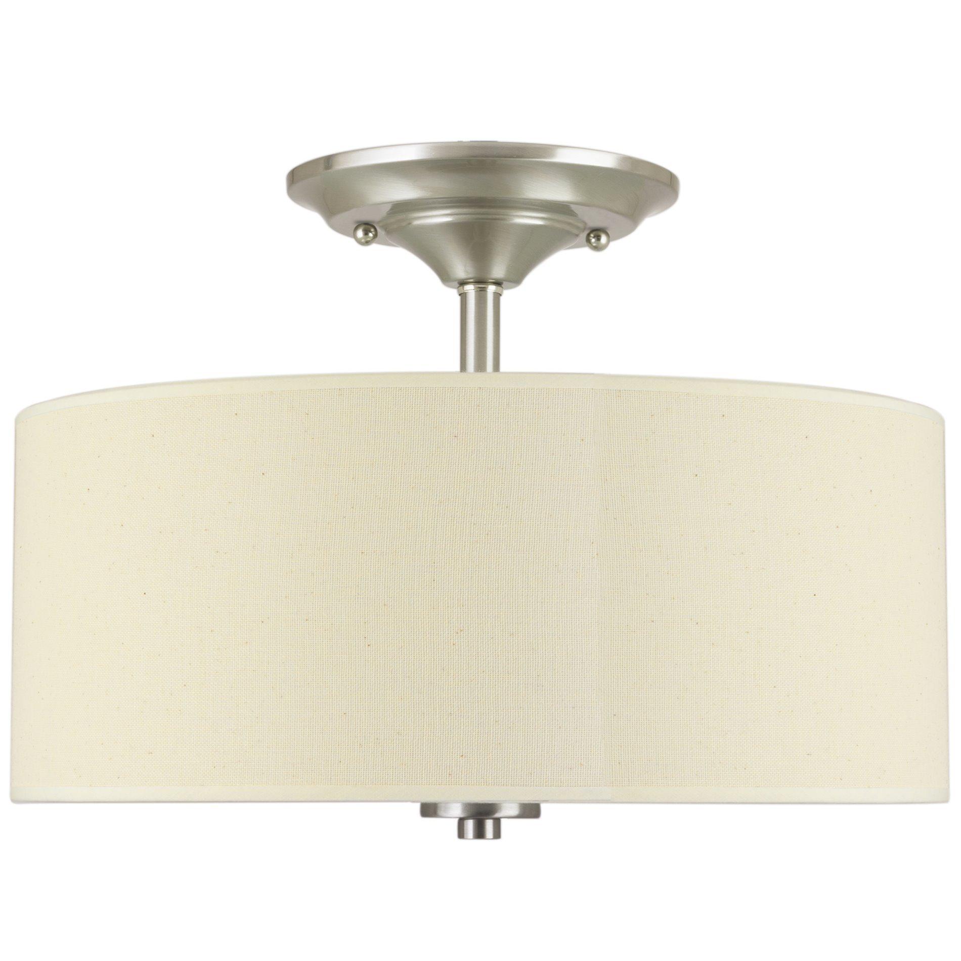 """Revel Addison 13"""" 2 Light Semi Flush Mount Ceiling Light Fixture w"""