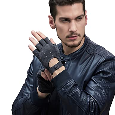 fac73633aa254 GSG Extra 5% OFF 2018 New Arrivals Men's Classic Finglerless Unlined Leather  Sporting Gloves Breathable