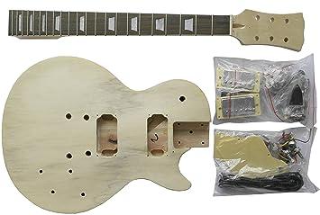 Guitarra eléctrica LP Style - Kit de bricolaje - Construye tu propia guitarra: Amazon.es: Instrumentos musicales