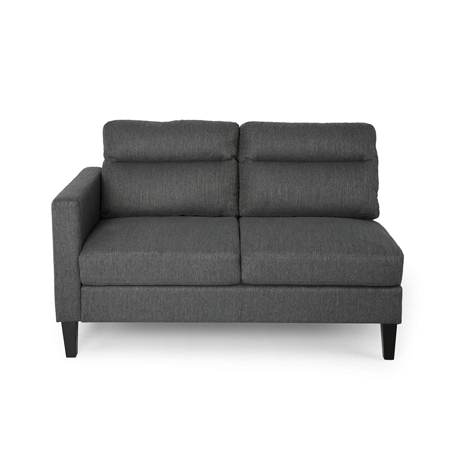 Amazon.com: Aurora Modern Fabric Upholstered 4 Seater ...