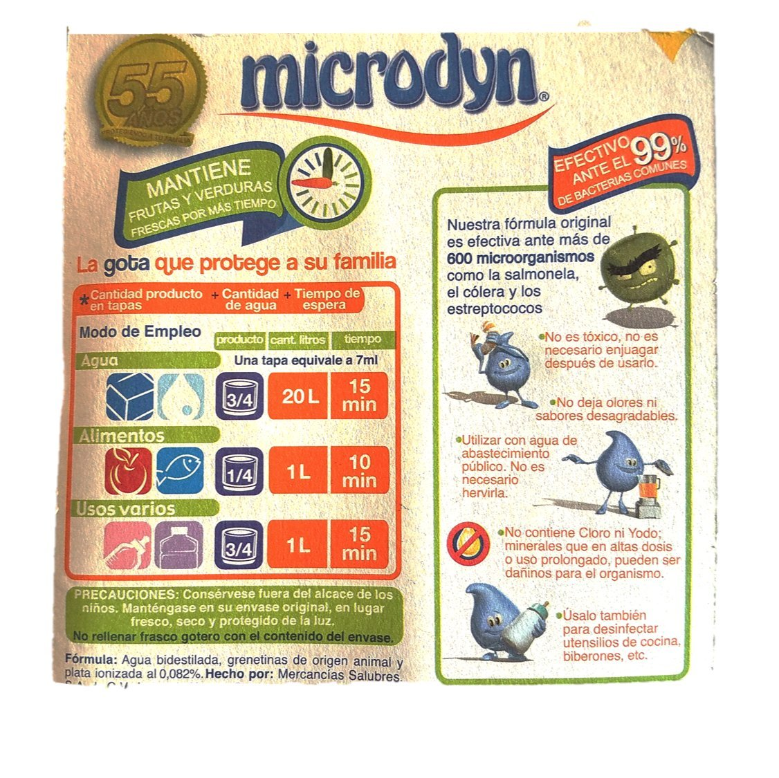 Microdyn Fruit and Vegetable Wash 100ml (Pack of 2) and Especiales Cosas Spatula by Microdyn, Especiales Cosas (Image #2)