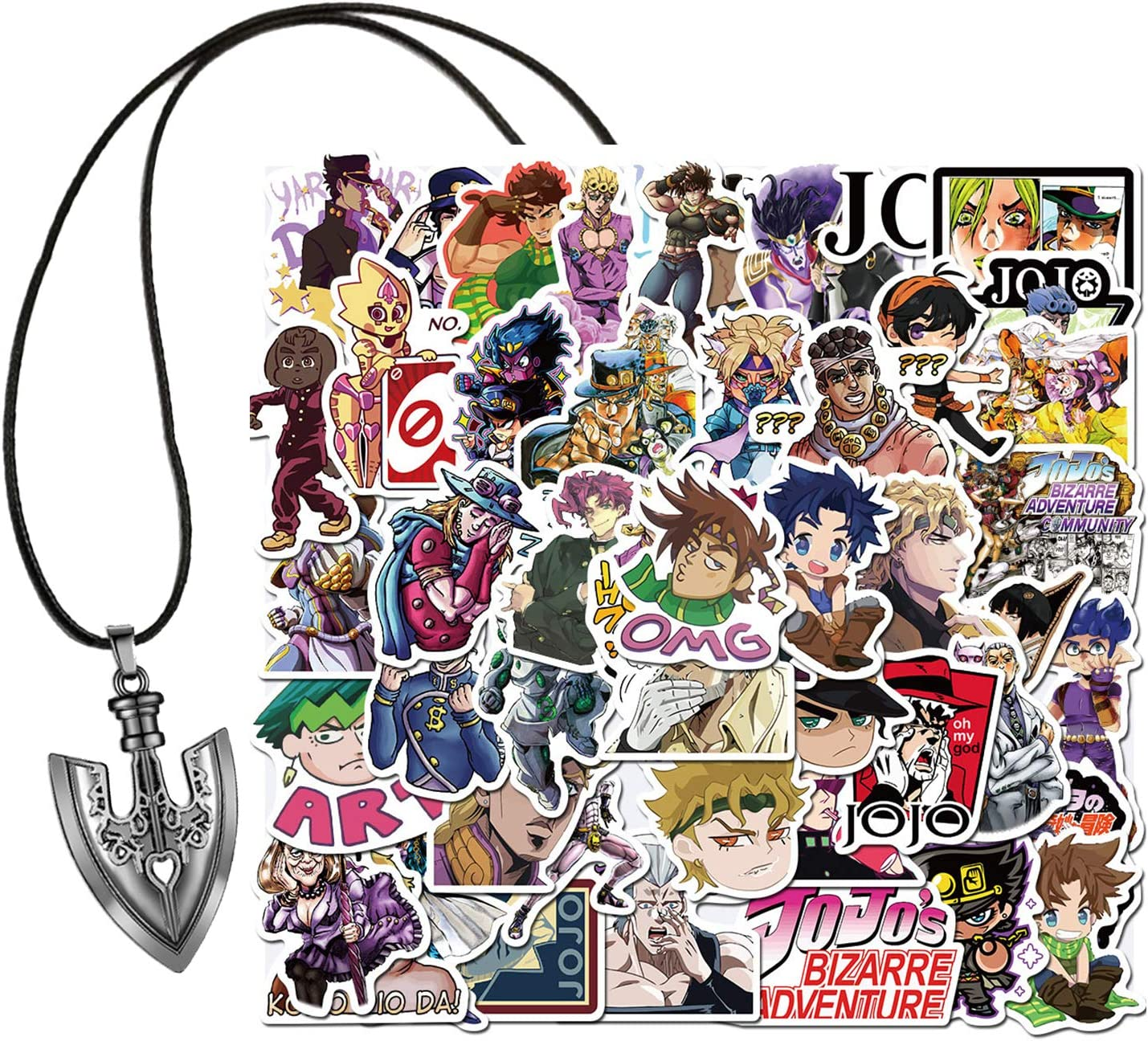 Amazon Com Kilmila Jojo S Bizarre Adventure Stickers 50pcs With Jojo Arrow Requiem Pendant Necklace Anime Cartoon Laptop Stickers Waterproof Skateboard Car Snowboard Bicycle Luggage Kitchen Dining In this video, i will be stand farming with requiem arrows in project jojo. kilmila jojo s bizarre adventure stickers 50pcs with jojo arrow requiem pendant necklace anime cartoon laptop stickers waterproof skateboard car