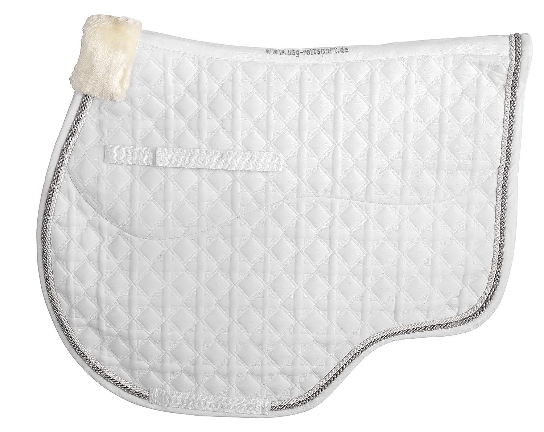 USG Jump Jumping Saddle Cloth White