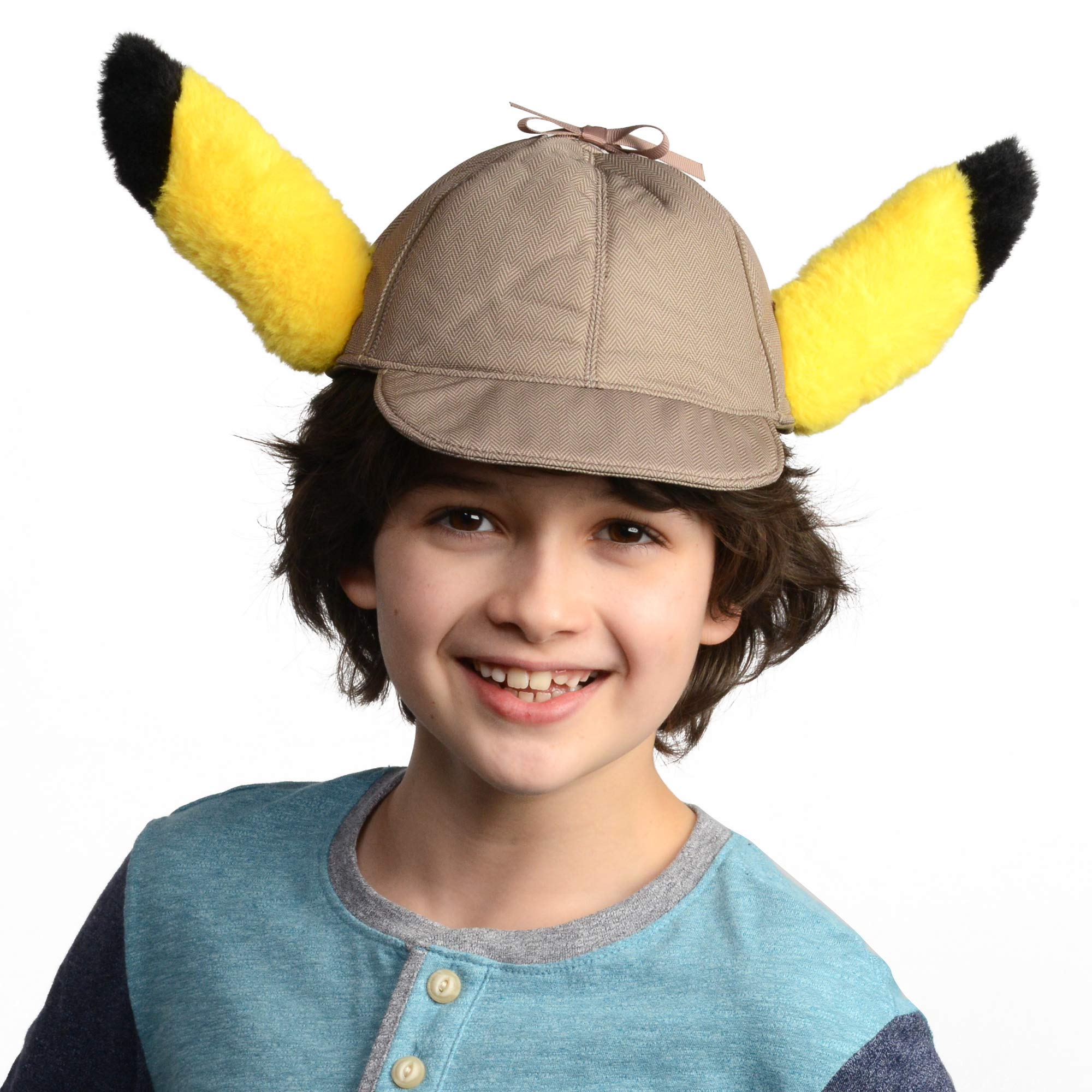 Pokémon Detective Pikachu Movie Hat with Ears - Perfect for Costumes, Dress Up and Halloween - One Size Fits Most - Age 4+ by PoKéMoN