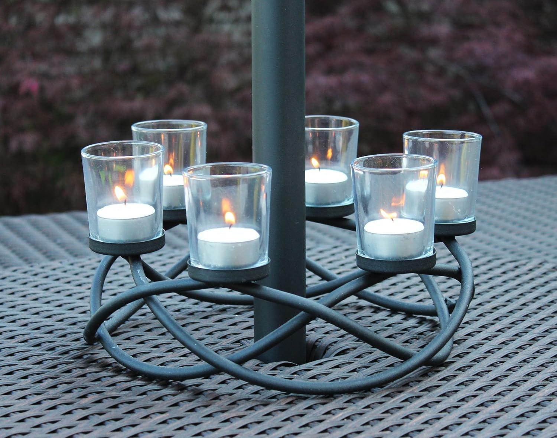 Amazon.com: Decorative 6-cup Circular Iron Candle Holder Centerpiece ...