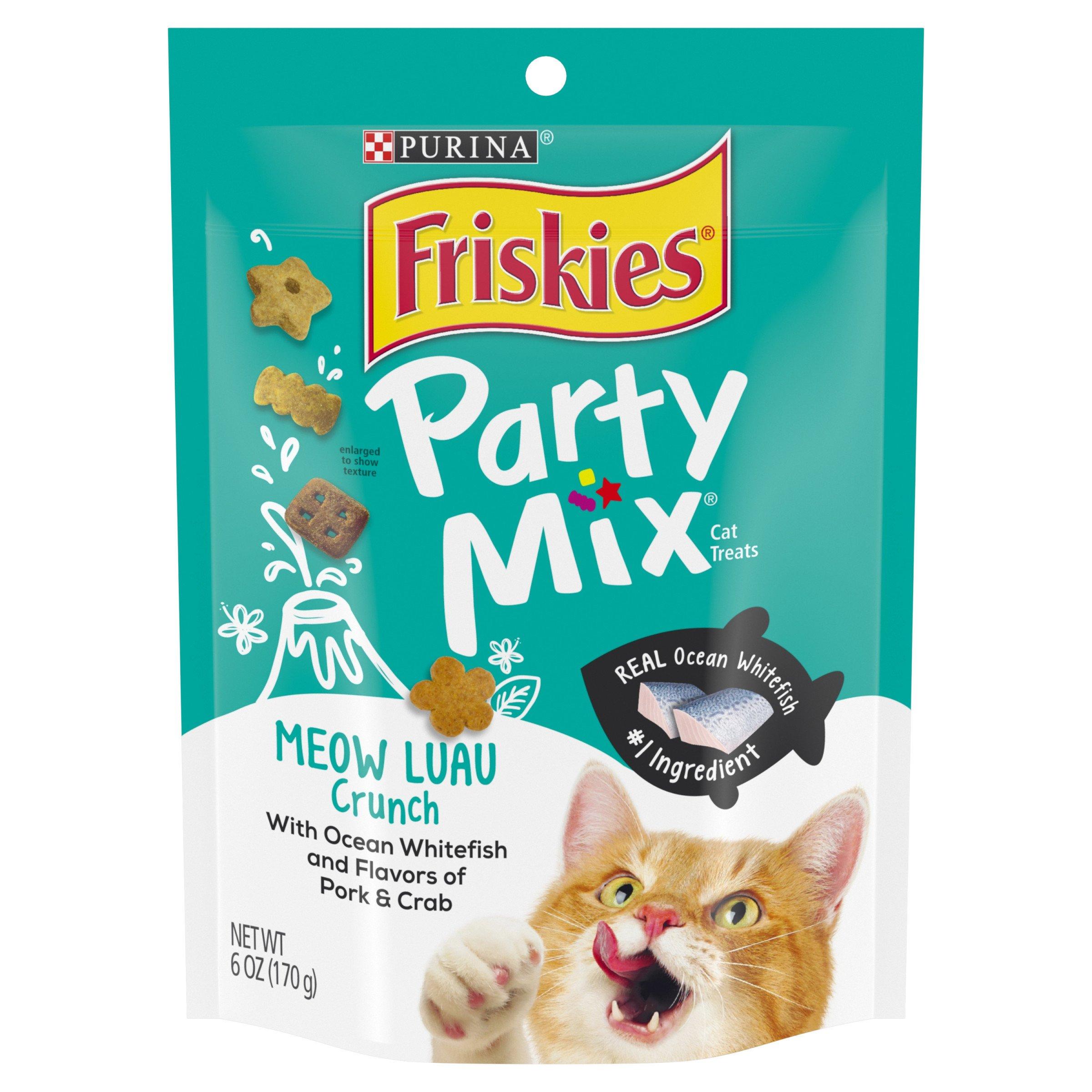 Purina Friskies Party Mix Meow Luau Crunch Adult Cat Treats -  (7) 6 Oz. Pouches by Purina Friskies (Image #1)