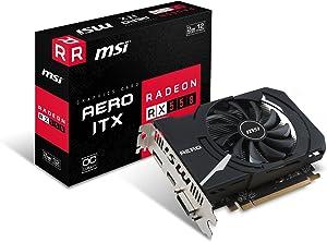 MSI Gaming Radeon RX 550 128-bit 2GB GDRR5 DirectX 12 VR Ready Graphcis Card (RX 550 AERO ITX 2G OC) (Renewed)