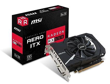 MSI Radeon RX 550 AERO ITX 2G OC - Tarjeta gráfica 2 GB GDDR5