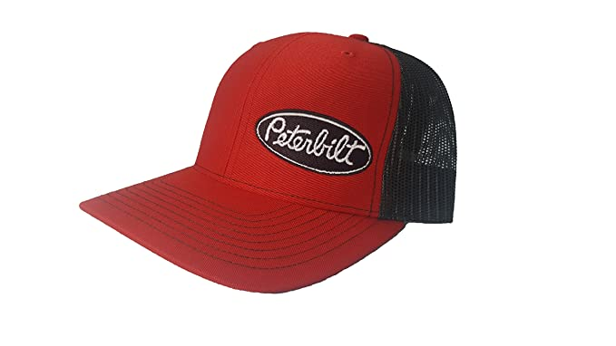 9e3b04369d0 Richardson 3D Puff Peterbilt Logo Emblem Hat Cap Adult Adjustable ...