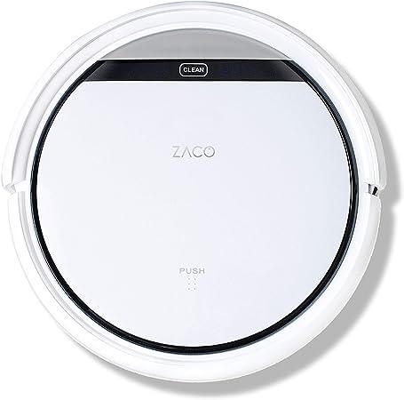 ZACO V3sPro-Robot aspirador con 4 modos, fácil manejo y programación con el mando a distancia, especial para pisos duros y la limpieza de pelos de mascotas, color blanco nieve, 30x30x8,1cm: Amazon.es: Hogar