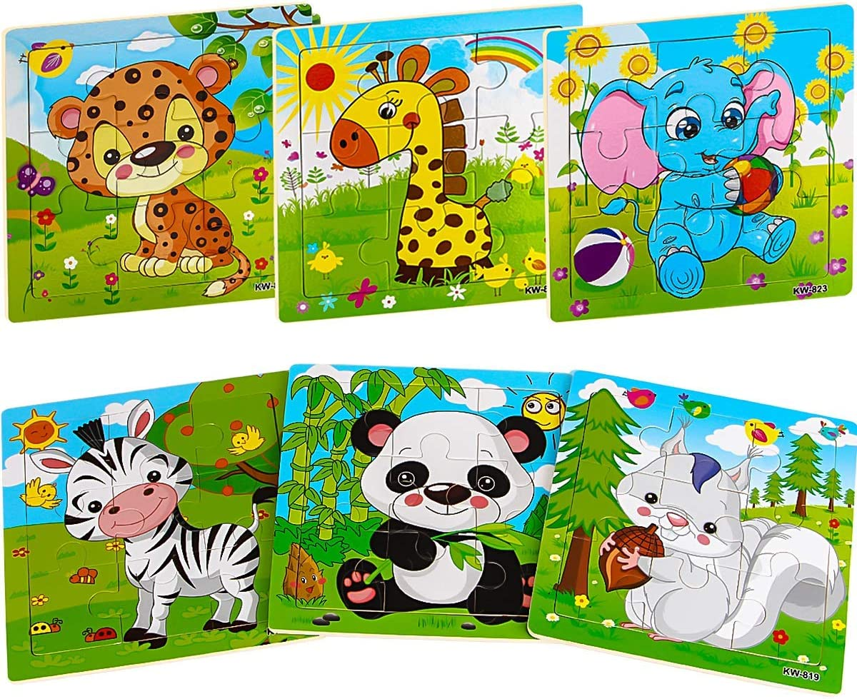 Amazon.com: Aitey Wooden Jigsaw Puzzles for Kids Ages 2-5 Toddler ...