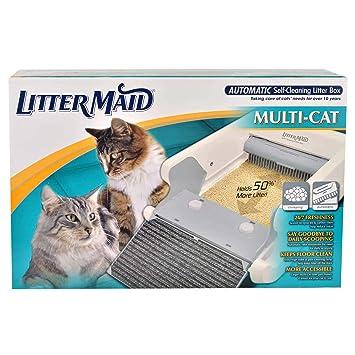 LitterMaid lm-86579 multi-cat automático auto-limpieza de la bandeja de arena: Amazon.es: Productos para mascotas