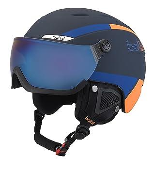 Bollé 31487 Cascos de Esquí, Unisex Adulto, Azul Marino/Naranja, 54-