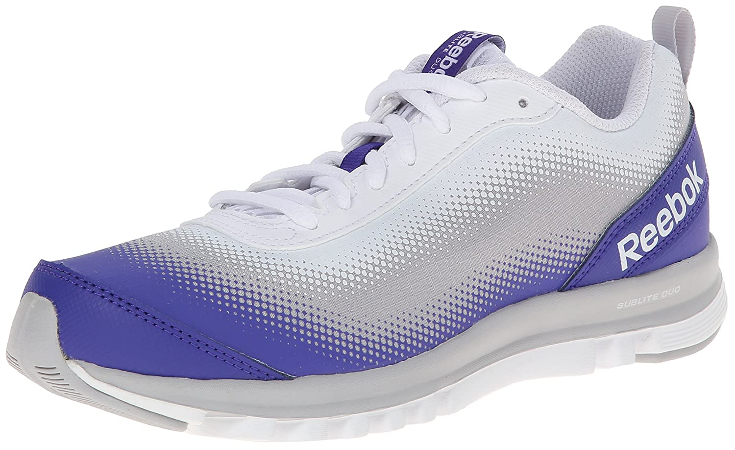 a0ed73ebcc6f4 Amazon.com   Reebok Women s Sublite Duo Quest Running Shoe, Ultima  Purple White Steel, 8.5 M US   Road Running