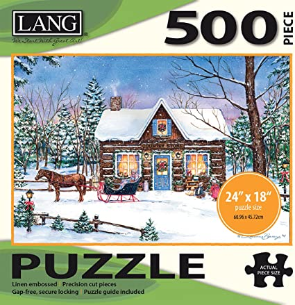 Lang - 500 Piece Puzzle -Magical Evening, Artwork by Laura Berry - Linen Finish - 24 x 18 Completed