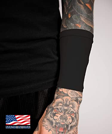 bc9ff6230 Amazon.com: TatCover Premium 6 Inch Wrist Tattoo Cover Up Sleeve - Blocks  98% UV Rays - Made in the USA (Extra-Large, White): Beauty