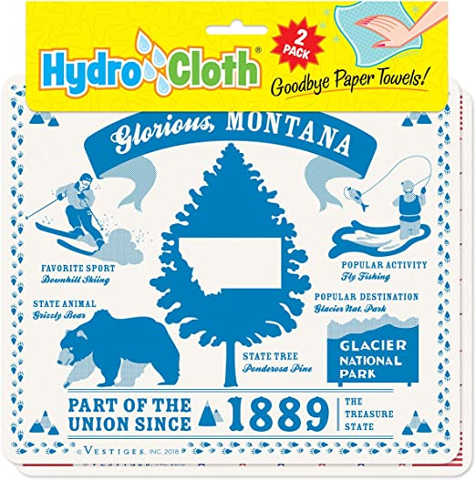 Amazon Com Fiddler S Elbow Glorious Montana Hydro Cloth Eco Friendly Sponge Cloths Reusable Swedish Dish Cloths Set Of 2 Printed Sponge Cloths Replaces 30 Rolls Of Paper Towels Home Kitchen