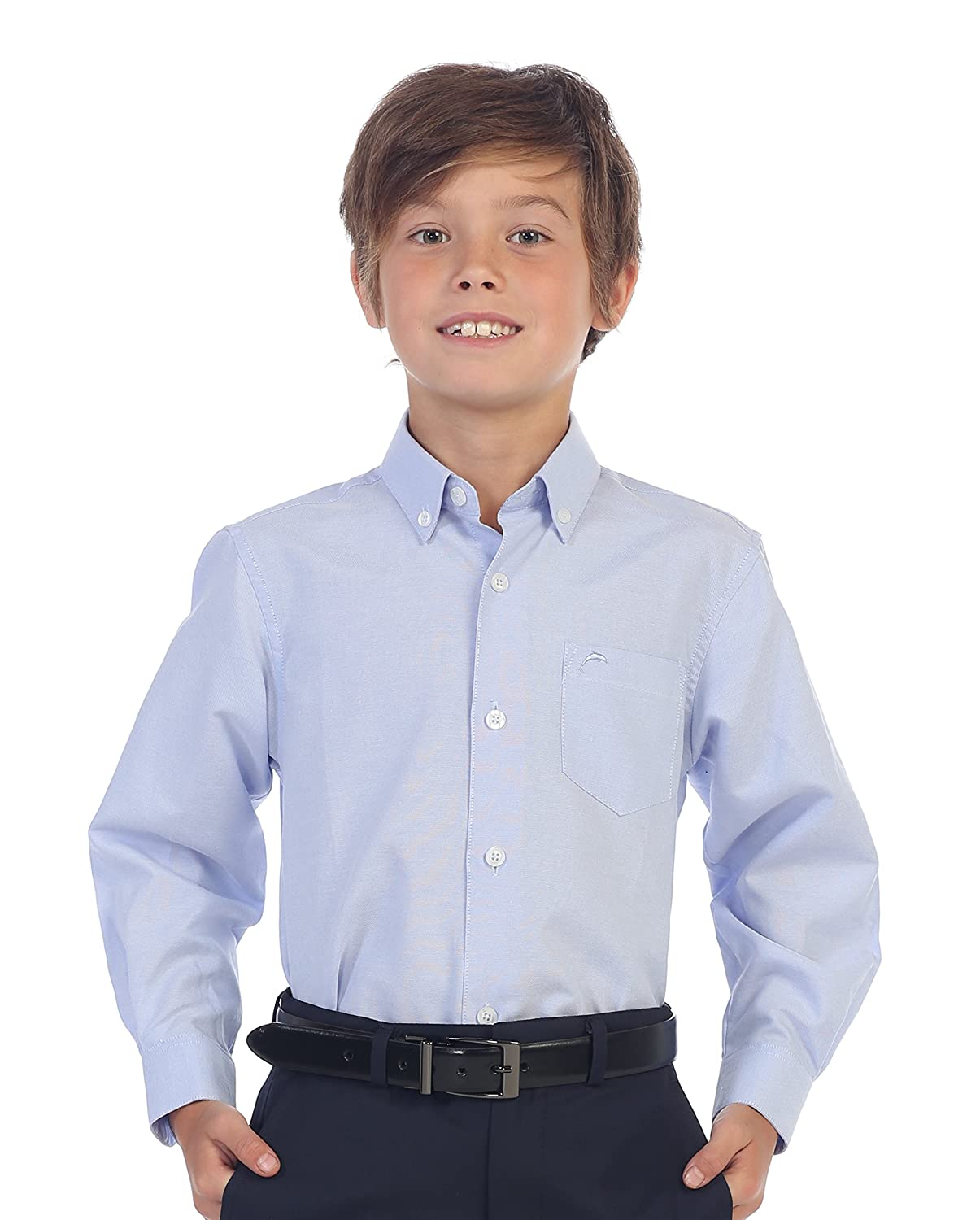 Gioberti Boy's Oxford Long Sleeve Dress Shirt China DSX-85