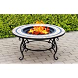 CENTURION Supports fireology Beluga Garten Heizung/Fire Pit/Couchtisch/Grill/Ice Bucket – Marmor-Finish