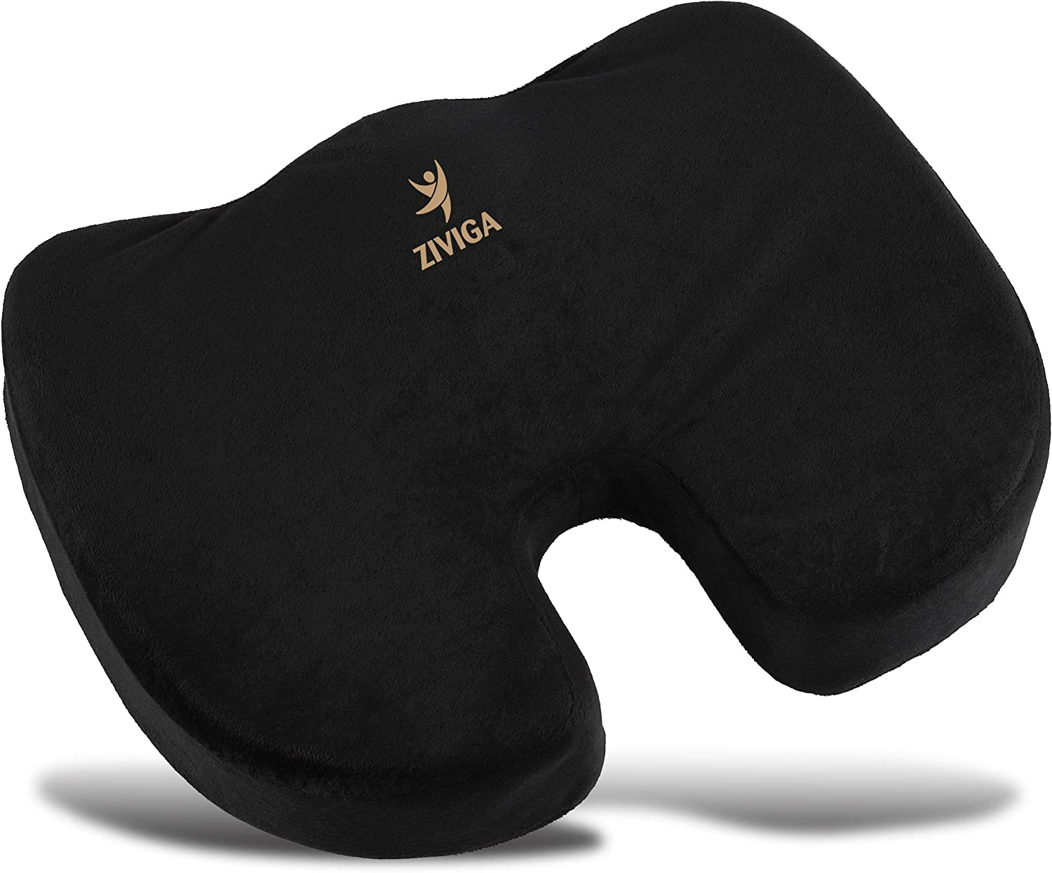 Seat Cushion for Office Chair - Kitchen, Truck Driver, Car, Bleachers, Wheelchair - Soothing Coccyx Support Relieves Back Pain, Tailbone, Sciatica, Hemorrhoid