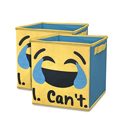 Beautiful EmojiPals I Canu0027t Collapsible 2 Pack Soft Storage Cubes