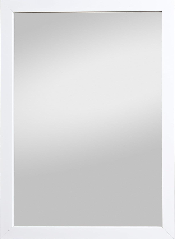 DEKO Spiegel WANDSPIEGEL Dekospiegel Kunststoff matt weiß 78 x 58 cm
