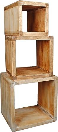 Lot De 3 Cube Design Table De Chevet Etagere Du Salon Tables En
