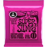Jeu de cordes pour guitare électrique Ernie Ball Super Slinky Nickel Wound, calibre 9-42