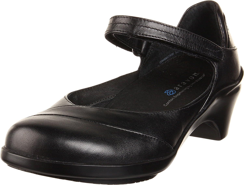Aravon Women's Maya B002IN5J7Q 6.5 M (B) US|Black Leather