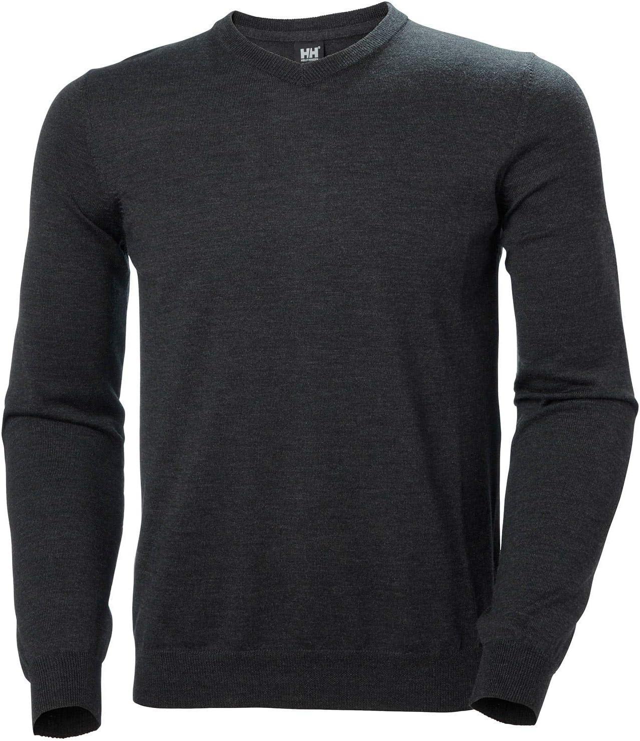 Helly-Hansen Mens Skagen 100/% Merino Wool V-Neck Sweatshirt