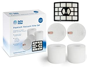 Fette Filter - Vacuum Filter Set Compatible with Shark Rotator Powered Lift-Away NV650, NV650W, NV651, NV652, NV750W, NV751, NV752, NV831, NV835, AX950, AX951 & AX952. Compare to # XFF650 & XHF650.