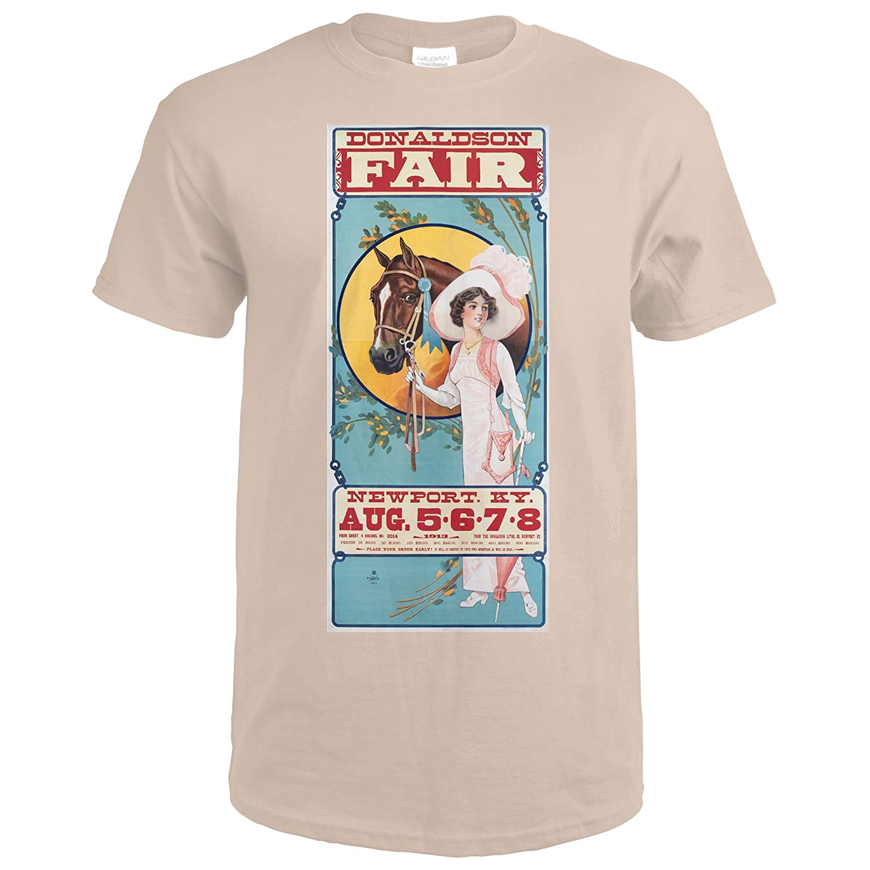 Amazon.com: Donaldson Fair Vintage Poster USA c. 1913 (Premium T-Shirt):  Clothing