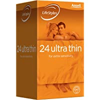 LifeStyles Ultra Thin Condom, (Pack of 24)