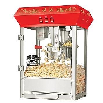 Great Northern palomitas 6100 Base Rojo Estilo Antiguo 8 onzas máquina de palomitas de maiz poppers