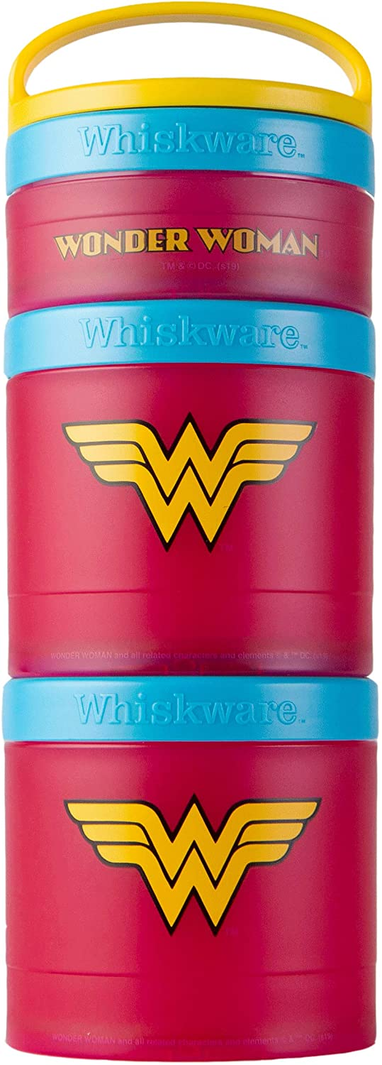 Whiskware C04401 Justice League Stackable Snack Pack, Wonder Woman