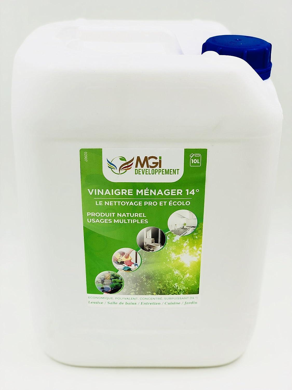 MGI DEVELOPPEMENT 10 L vinagre Blanco con 14 ° - para un Limpieza ...