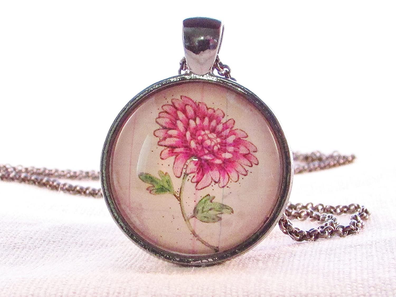 Necklace Pendant Birth Month November Flower Chrysanthemum
