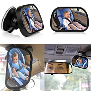 Baby Car Mirror for Back Seat, niceEshop(TM)New Version Wide Clear View Child Infant Rear Facing Mirror with Strong Suction Cup for Car Rear View