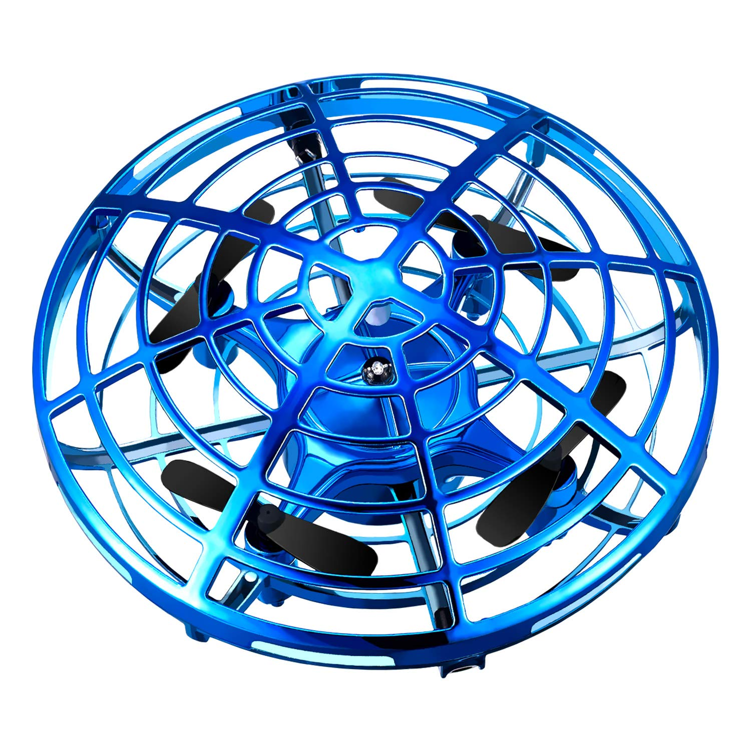 Veken Hand Operated Drones for Kids, Hands-Free Mini Drone Helicopter, Flying Ball Drone Toys for Boys and Girls (Blue) by Veken