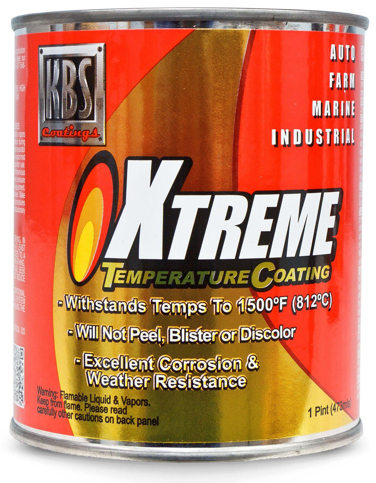 KBS Coatings 65308 Off-White Xtreme Temperature Coating - 1 Pint