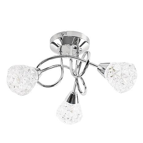 MiniSun - Moderno plafón para el techo Astley II - lámpara de 3 luces