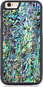WoodWe iPhone Case Made of Natural Sea Shell | for iPhone 7/8 | Slim & Handmade Cover | Heavy Duty Protection | Abalone