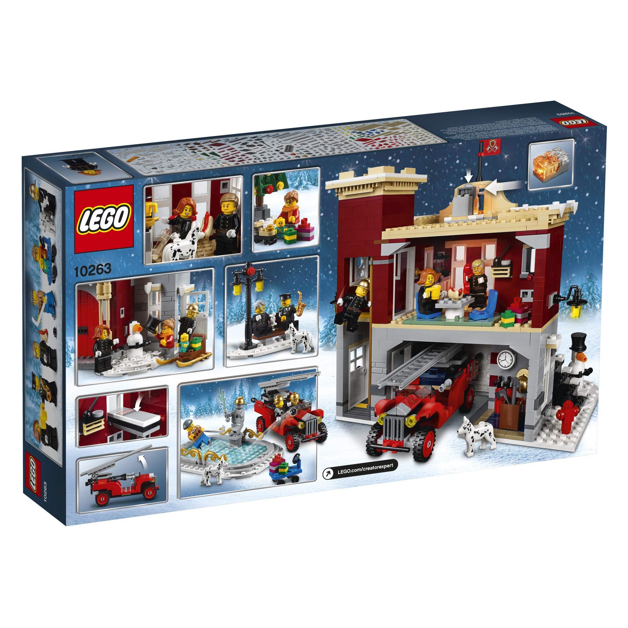 lego creator expert winter village fire station 10263 building kit 2019 1166 pieces. Black Bedroom Furniture Sets. Home Design Ideas
