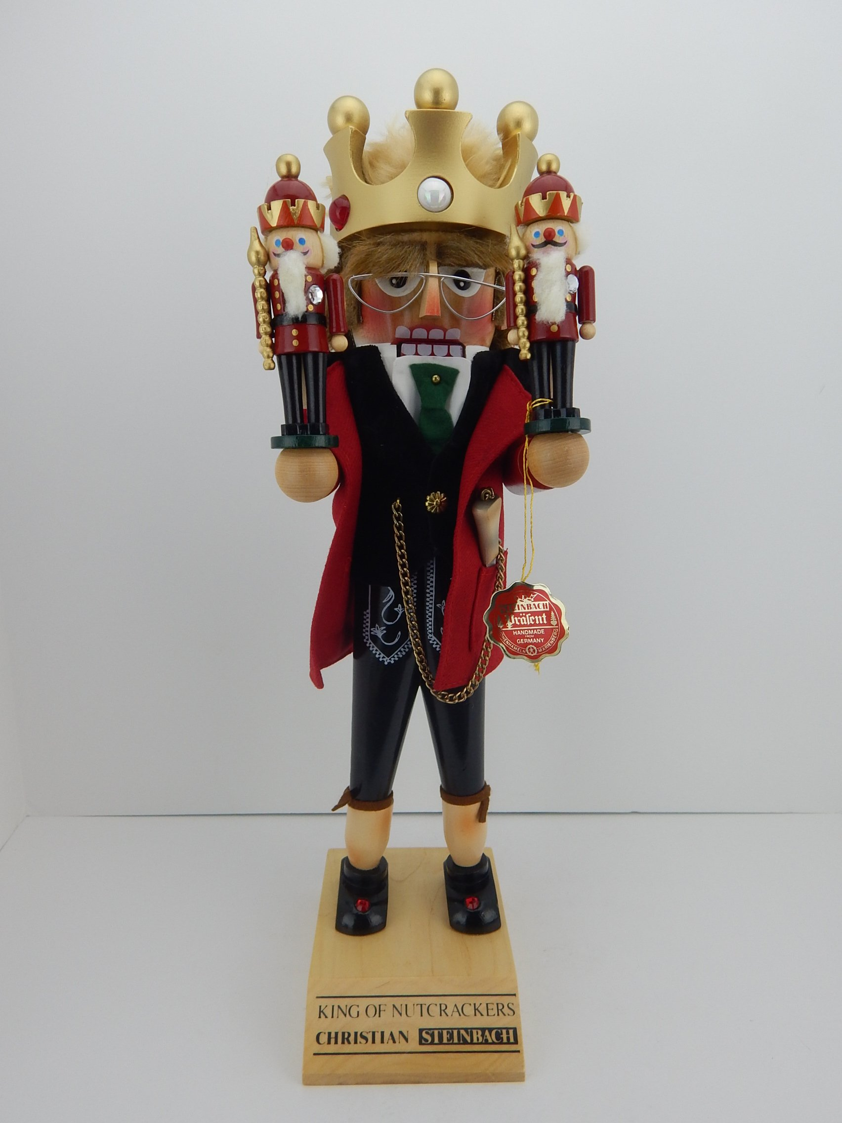 Steinbach Nutcracker King Christian ''King of Nutcrackers'' 18.5'' Tall by Steinbach