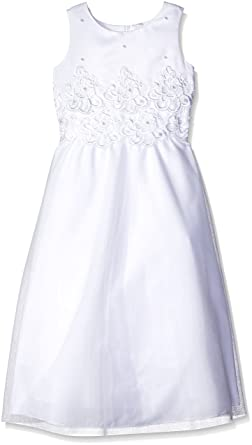 adbe6fc4f6e Amazon.com  Lauren Madison Big Girls  Floral Lace W Pearls Dress ...