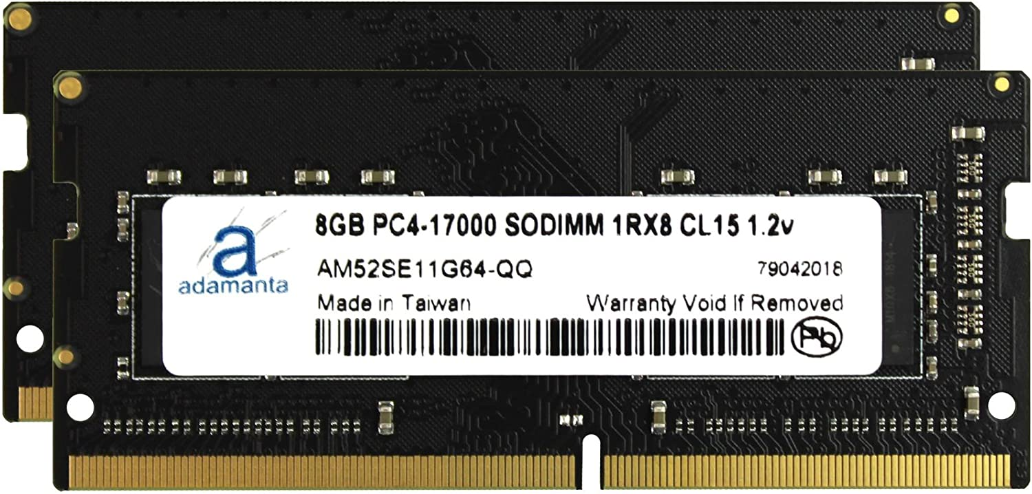 Laptop Memory Upgrade for Acer Aspire V 15 V5-591G-77F8 DDR4 2133 PC4-17000 SODIMM 1Rx8 CL15 1.2v Notebook RAM Adamanta 16GB 2x8GB