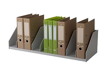 Paperflow - Organizador para archivadores (compartimentos fijos), color gris